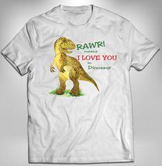Dinosaur Shirt, Rawr Means I Love You, Boy Shirt, Custom Shirt, Iron On Transfer, Custom Digital, Heat Press, T-Rex Shirt Trex shirt by AdrianMarieDesigns on Etsy