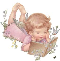❤️️️️️️️Little Angel.with your book, How sweet and contented that you look. Is it poetry or just a short story? Lazily lying there, shining in His glory, Rebecca Jones