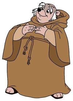 *FRIAR TUCK ~ Robin Hood, 1973 Robin Hood 1973, Robin Hoods, Brian Bedford, Ken Anderson, Live Action, Scooby Doo, Disney Characters, Fictional Characters, Witch