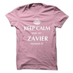 Keep Calm and Let ZAVIER  Handle It.New T-shirt - #sweatshirt men #sweatshirt ideas. CLICK HERE => https://www.sunfrog.com/No-Category/Keep-Calm-and-Let-ZAVIER-Handle-ItNew-T-shirt.html?68278