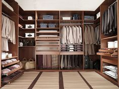 Masculine Closets & Dressing Room Ideas