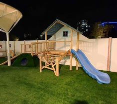 Our team recently completed this custom built timber play structures at Kids Spot Nursery in Dubai.  Specifically designed to provide children an outlet for fun as well as exercise, this structure encourages free play that will promote physical, mental and social development, inspire the use of imagination and creativity, assist in building muscle and self-confidence and aid the development of sensory- and motor-skills. Play Structures, Tree Houses, How To Better Yourself, Motor Skills, Build Muscle, Sun Lounger, Imagination, Children, Kids