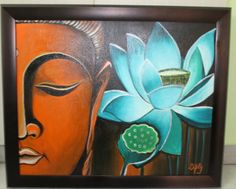 buddist paintings | Acrylic Art Gallery | art for sale | buddha peace and love
