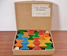 Vintage Naef Spiel Wooden Building Set - Swiss Made - Designed by Kurt Naef
