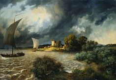 Thunderstorm In The Area Of The Village Kaditz - (Ernst Ferdinand Oehme)