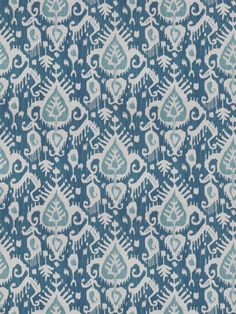 Vervain Bonneau Copen - blue and white delft ikat linen.  1 yard available as of 4/3/2014. calicodaisy.etsy.com #ikat #blue and white #chinoiserie