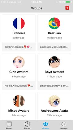 Avatars Groups
