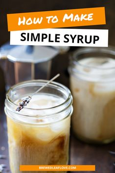 Simple syrup is easy to make and is key to so many recipes for cocktails, coffee drinks and tea drinks.  You can even infuse simple syrup with herbs and other flavorings. Hot Tea Recipes, Cocktail Recipes, Cocktails, What Is Simple Syrup, Make It Simple, Tea Drinks, Coffee Drinks, How To Make Tea, Food To Make