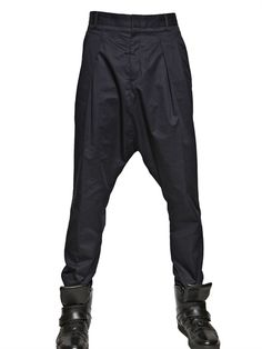 GIVENCHY - 18CM TWO TONE COTTON POPLIN HAREM PANTS - LOVE THEM! I'll pin the back.