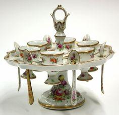 Continental Porcelain Egg Server.  http://www.liveauctioneers.com/item/7042678