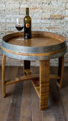 60 Awesome Whiskey Barrel End Table Diy Diy Stuff Diy Wine Barrel Table – Rocket Farms Wine Barrel Chairs, Whiskey Barrel Furniture, Wine Barrels, Whiskey Barrel Table, Wine Barrel End Table, Wine Cellar, Wine Furniture, Wine Table, Barris