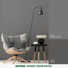 A versatile hue, when matched with white and other neutral colors, gray can make any room comfortable and inviting. Keep the space soft and interesting by adding a variety of textures and/or natural accents. Gray Room Paint, Grey Room, Matching Paint Colors, Paint Colors For Home, Home Design Decor, House Design, Interior Design, Home Decor, Room Ideas Bedroom