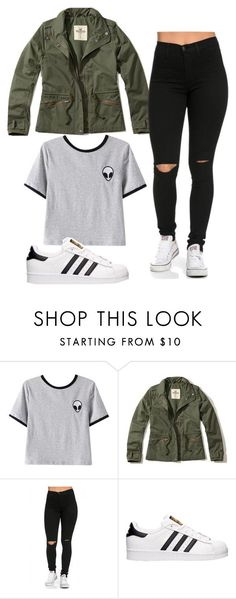 """Outfit of the day"" by iamrosyrosalie on Polyvore featuring Chicnova Fashion, Hollister Co. and adidas"