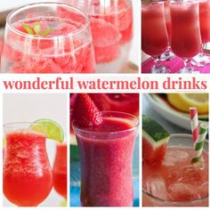 There is nothing better on a hot summer's day than a cool beverage. These WONDERFUL WATERMELON DRINK RECIPES are the perfect companion to the summer sun