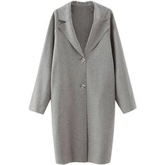 Yoins Yoins Grey Lapel Collar Raglan Sleeve Duster Coat ($43) ❤ liked on Polyvore featuring outerwear, coats, grey, trench coats, gray coat, vegan coats, grey coat, faux leather coat and duster coat