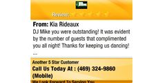 DJ Mike you were outstanding! It was evident by the number of guests that complimented you...
