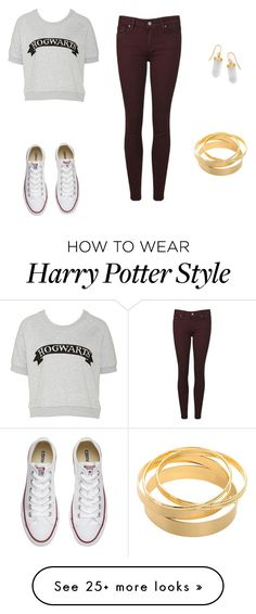 """Harry Potter"" by madeline150303 on Polyvore featuring Paige Denim, Converse and BillyTheTree"