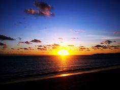 Natadola beach sunset