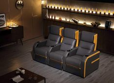 As one of the most professional electric recliners manufacturers and suppliers in China, we bring here high-quality recliner chairs with good price. Welcome to buy electric recliners on sale from our factory. Home Theater Design, Home Theater Seating, Theater Recliners, Cinema Seats, Home Theater Furniture, Sofa Seats, Reclining Sofa, Chair Design