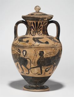 AN ETRUSCAN BLACK-FIGURED AMPHORA AND ATTRIBUTED TO THE MICALI PAINTER, CIRCA 510-500 B.C.  | Christie's