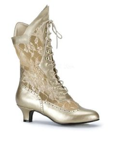 Gold Womens Victorian Shoe $39.99