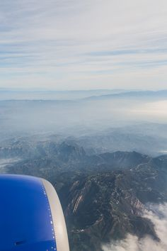 California from above. An aerial view from 36k feet.