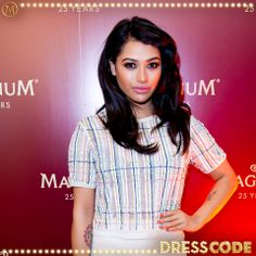 The Saturdays' Vanessa came to celebrate with us #MagnumDressCode