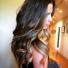 Brunette Balayage! Love this summer hair! Beachy. Wavy. Beautiful! Hair by Kristin Gore in San Francisco! Gorgeous color
