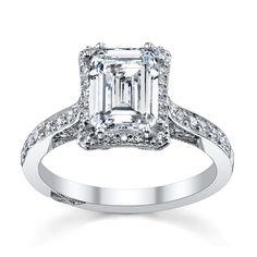 Tacori Platinum Diamond Engagement Ring Setting