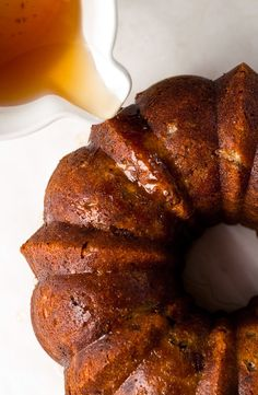 A bundt cake, which is really just like an oversize muffin baked in a fancy pan, is easy to whip up. The booze bath helps keep it fresh, meaning you can bake it ahead and eat the leftovers for days. (Photo: Andrew Scrivani for The New York Times)