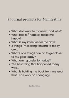 Gratitude Journal Prompts, Journal Questions, Therapy Journal, Self Care Bullet Journal, Routine, Positive Self Affirmations, Manifestation Journal, Self Care Activities, Affirmation Quotes