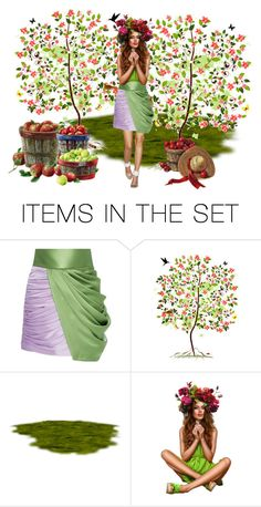 """Apple Queen"" by sjlew ❤ liked on Polyvore featuring art"