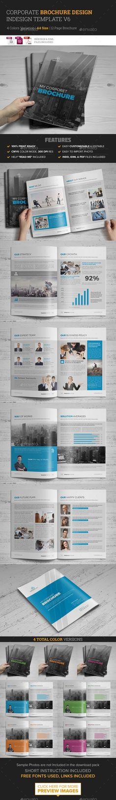 Corporate Multipurpose Brochure Template #design #print Download: http://graphicriver.net/item/corporate-multipurpose-brochure-template-v6-/11943795?ref=ksioks