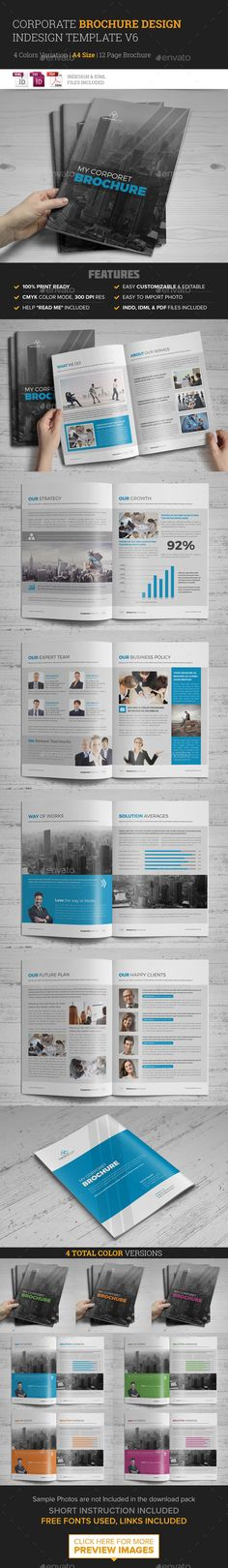 Corporate Multipurpose Brochure Template #design #print Download: http://graphicriver.net/item/corporate-multipurpose-brochure-template-v6-/11943795?ref=ksioks
