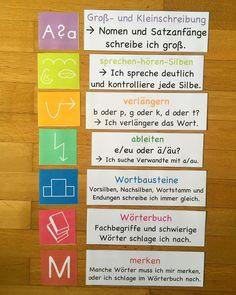 """112 Likes, 3 Comments - @grundschul_fee on Instagram: """"Rechtschreibhilfe für das Klassenzimmer #Rechtschreibung #Rechtschreibtraining #grundschule…"""""""