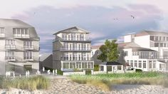 städtebauliche Visualisierung Niendorf/Ostsee: Einfügung der Rekonstruktion einer Strand-Villa