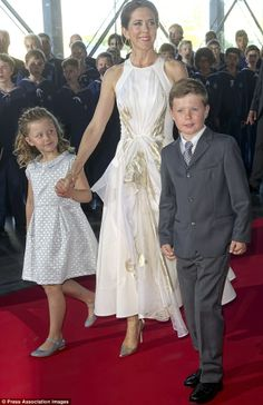 One Direction fans! Crown Princess Mary of Denmark, seen here on June 1, took her two children Prince Christian and Princess Isabella to see. One Direction.