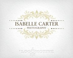 Premade Logo Design & Watermark Customizable for Small Business - photography, ornate, vintage, antique, damask, scroll, flourish