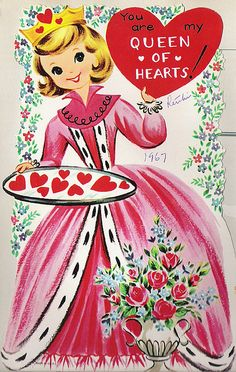 """Vintage """"Queen of Hearts"""" Valentine, shared by Look Homeward, Harlot on Flickr."""