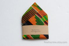 love the color! Pocket square: Kente II African Wax print mens fashion.