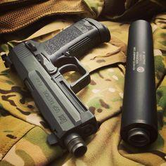 19591b7ed8 HK USP Tactical w  AAC Evolution 45 suppressor