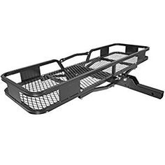 Hitch Cargo Carrier x by Vault - Haul Your Gear with This Rugged Steel Constructed Hitch Storage Rack for Your Truck or SUV - Hitch Rack Easily Mounts to Trailer Towing Hitche Toyota Forerunner, Folding Wagon, Hitch Rack, Travel Camper, Cargo Rack, Receiver Hitch, Jeep Life, Camping Gear, Pickup Trucks