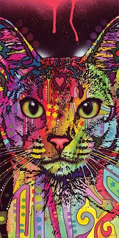 228169ba61f73 Dean Russo Cat Whiskers Modern Animal Decorative Art Print Unframed 12x12  Poster. Cat And Dog ...