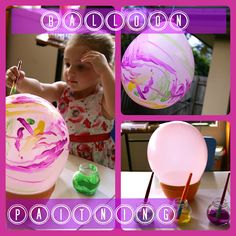 BALLOON PAINTING FROM FOUR LITTLE PIGLETS