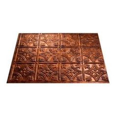 Fasade 18 in. x 24 in. Traditional 1 Moonstone Copper Decorative Wall Tile-B50-18 at The Home Depot