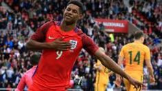Manchester United and England forward Marcus Rashford Marcus Rashford, World Football, Manchester United, Premier League, Bbc, Basketball Court, Wrestling, Man United, Lucha Libre