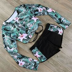 2017 Swimsuit Long Sleeve Swimwear Print Floral Bikini Surfing Women Bathing Suit Retro Beachwear Vintage Two Pieces Monokini Source by clothes suit Bathing Suits For Teens, Summer Bathing Suits, Cute Bathing Suits, Women Bathing Suits, Vintage Bathing Suits, Vintage Bikini, Teen Fashion Outfits, Trendy Outfits, Cool Outfits