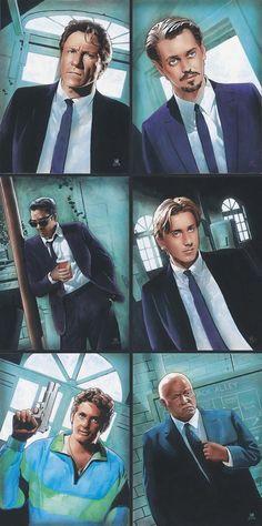 Reservoir Dogs - Mr White, Mr Pink, Mr White, Mr Orange, Nice Guy Eddie and Joe Cabot #GangsterMovie #GangsterFlick