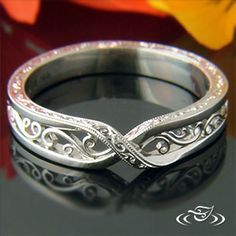 Cross over filigree and engraved band would look lovely next to a #GreenLakeMade #EngagementRing!