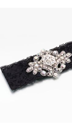 The perfect finishing touch.   Lillian Rose jeweled garter